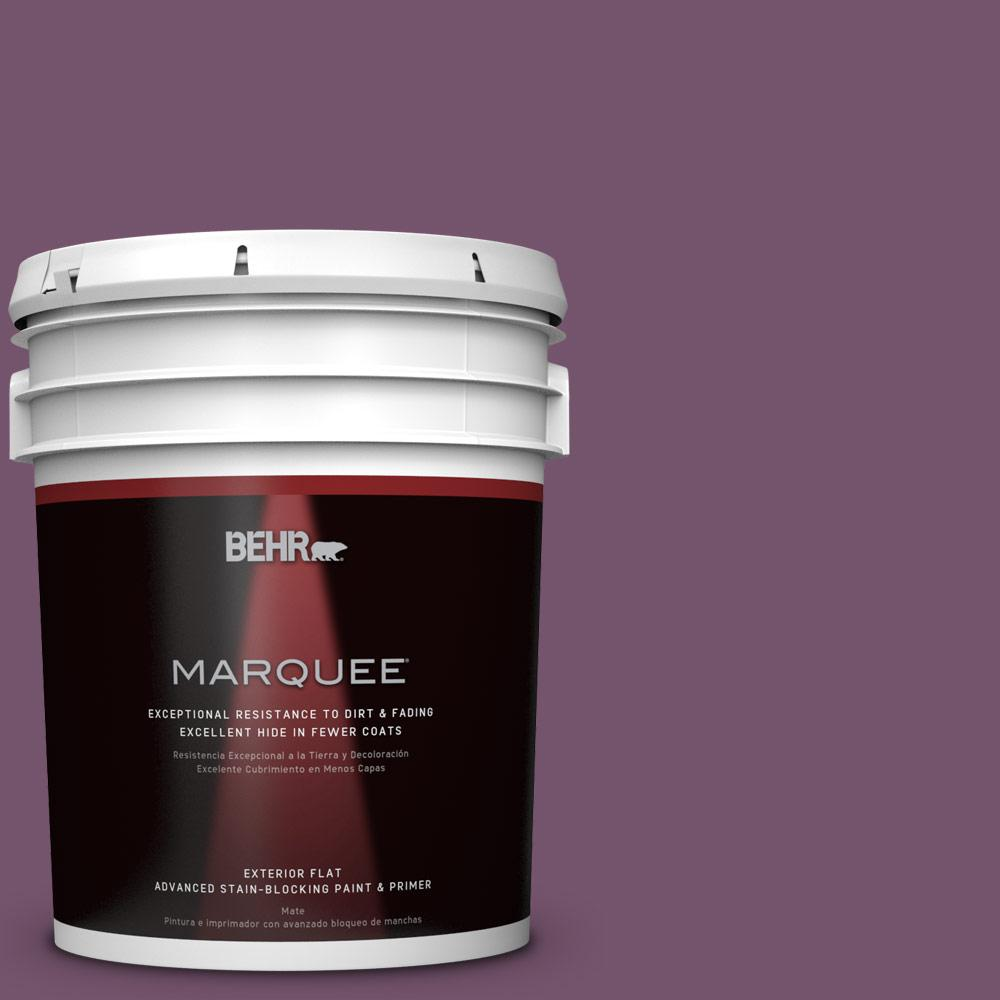 5-gal. #PMD-87 Exotic Orchid Flat Exterior Paint