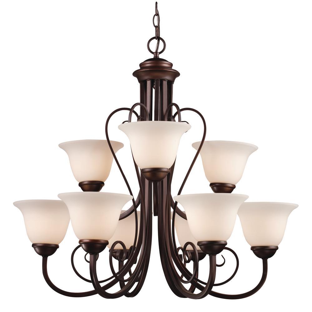 Bel Air Lighting Laredo Ii 9 Light Antique Bronze Chandelier 6529