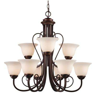 Laredo II 9-Light Antique Bronze Chandelier