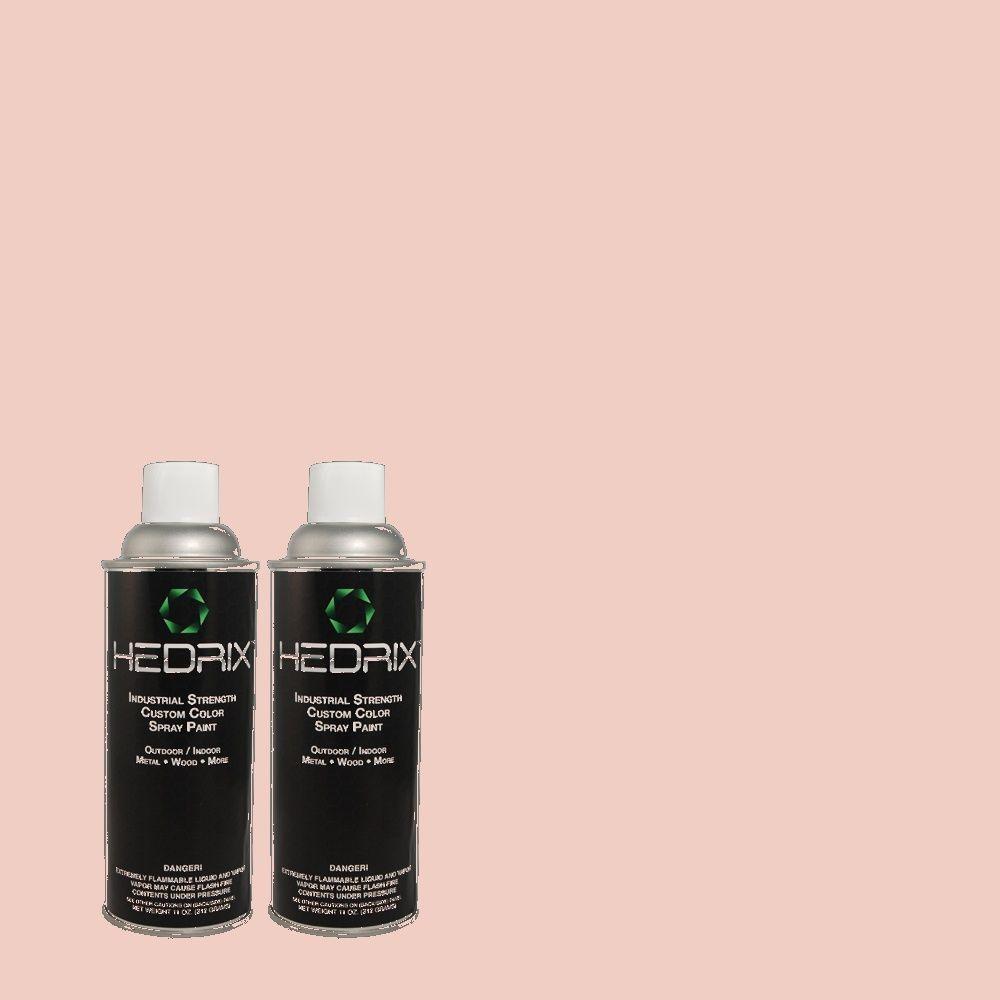Hedrix 11 oz. Match of RAH-45 Tea Rose Flat Custom Spray Paint (2-Pack)