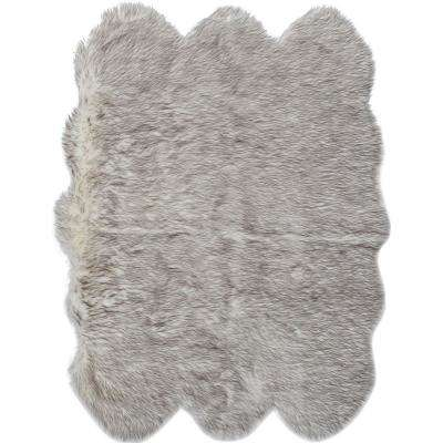 Le Royale Grey Tip 4 ft. 6 in. x 5 ft. 9 in. Indoor Accent Rug