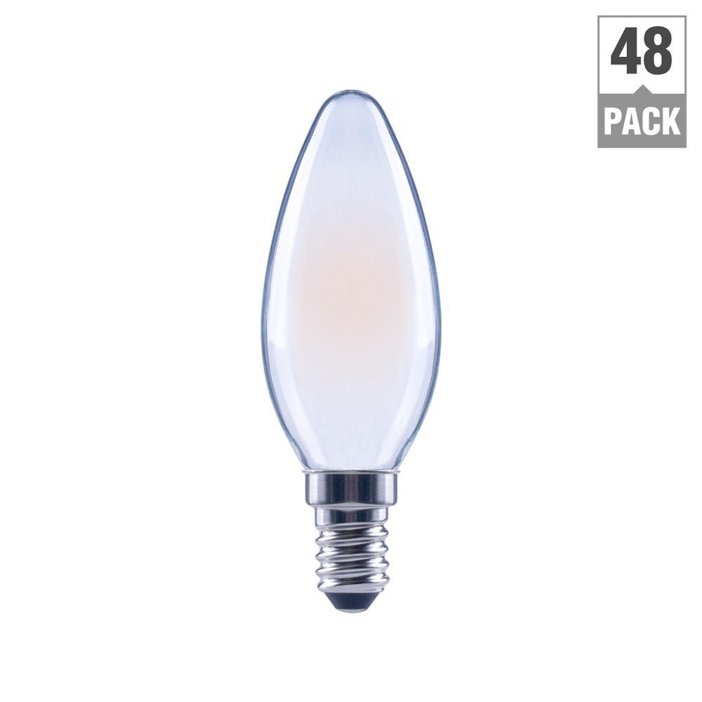 Ecosmart 40w Equivalent Soft White B11 Dimmable Filament: EcoSmart 60-Watt Equivalent B11 Dimmable Energy Star