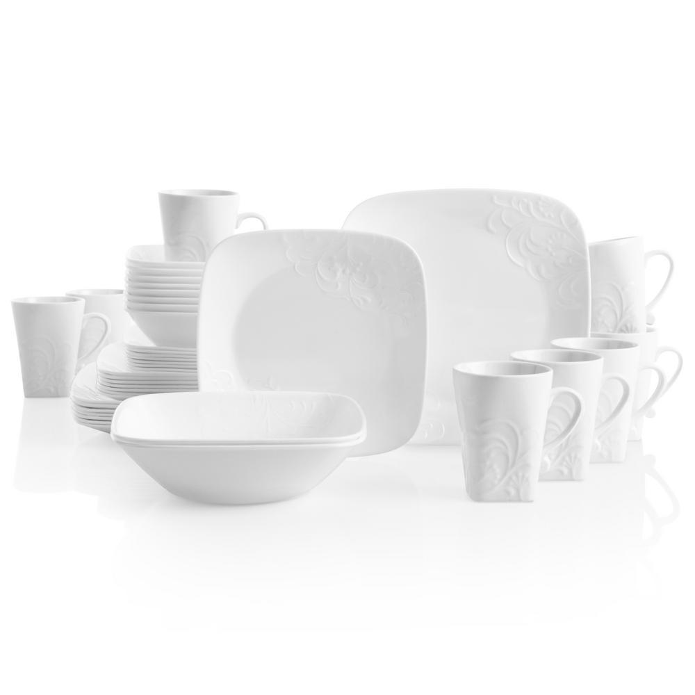 Boutique 42-Piece Traditional Cherish Stoneware Dinnerware Set (Service for 8)