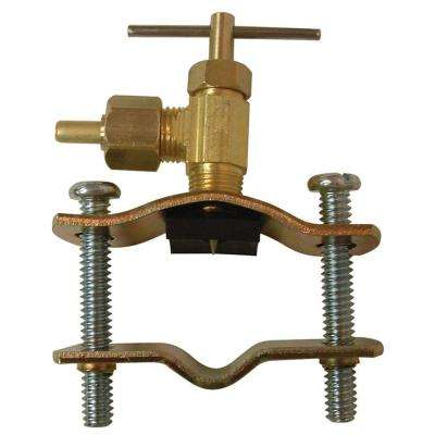 Lead-Free Brass Compression Saddle Valve Self Tap 1/4 in.