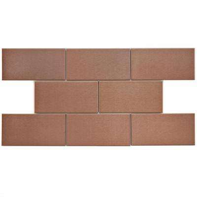 Alloy Subway Copper 3 in. x 6 in. Stainless Steel Over Porcelain Metal Wall Tile (1 sq. ft. / pack)