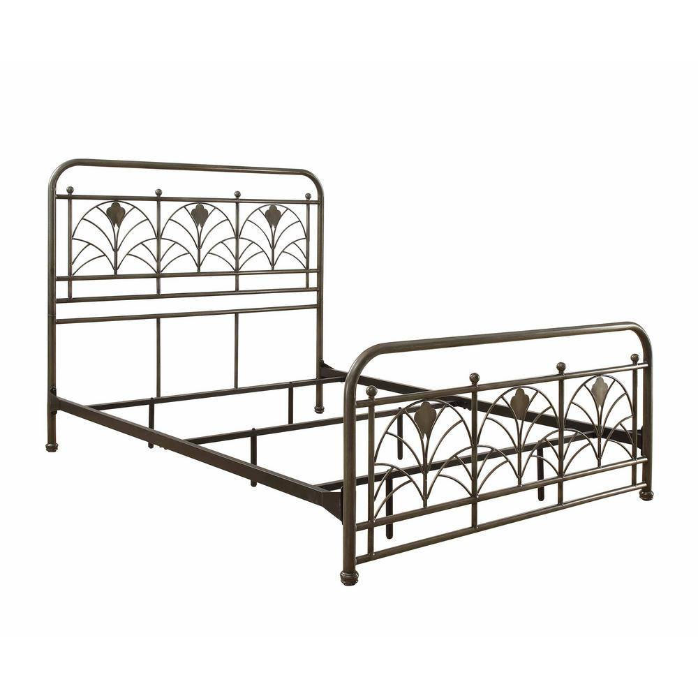 Craft + Main Avery Antique Pewter Queen Size Metal Bed-QDQ-3161Q ...