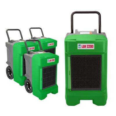 225-Pint Commercial Dehumidifier for Water Damage Restoration Mold Remediation in Green