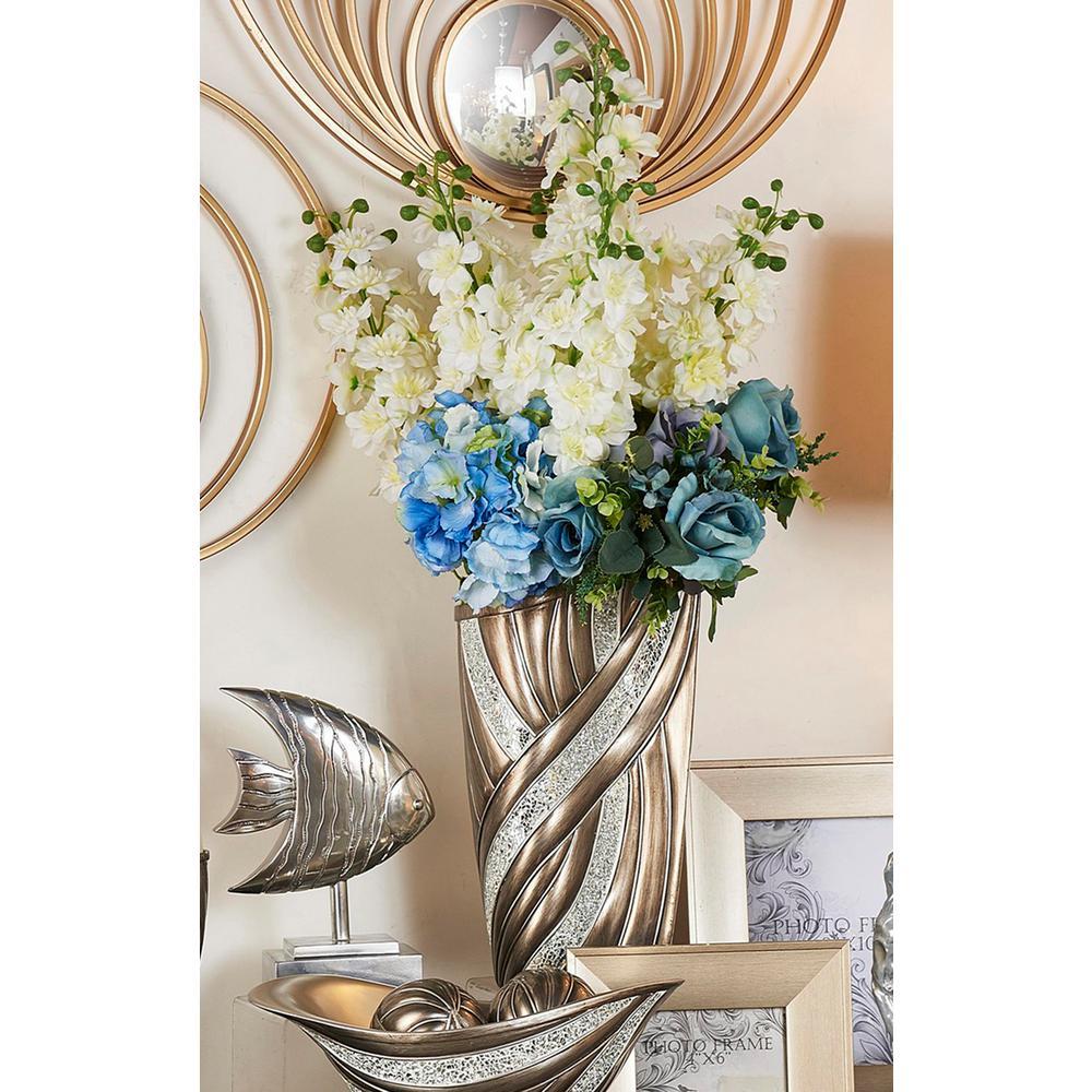 Kairavi Silver Polyresin Decorative Vase