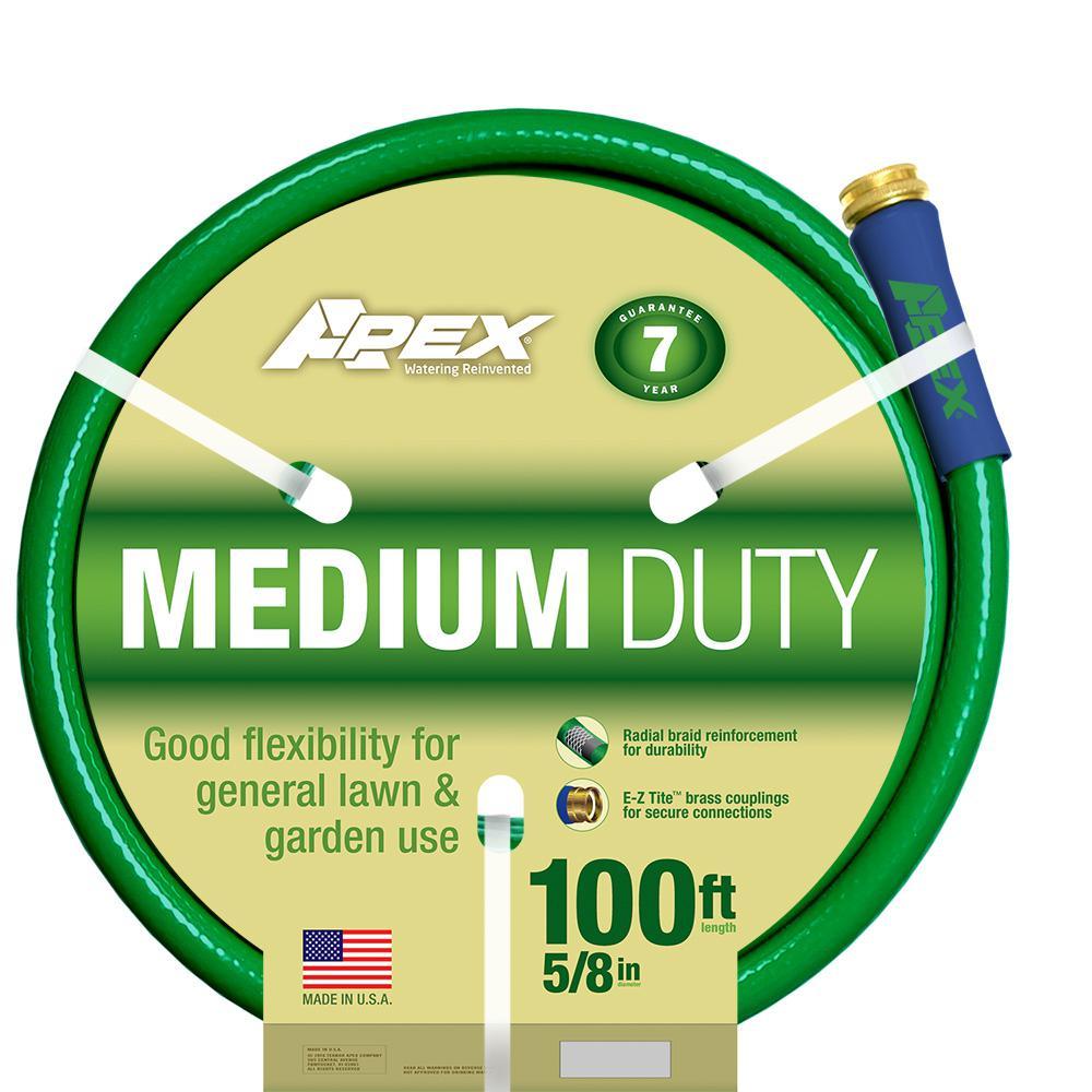 5/8 in. Dia x 100 ft. Medium Duty Water Hose