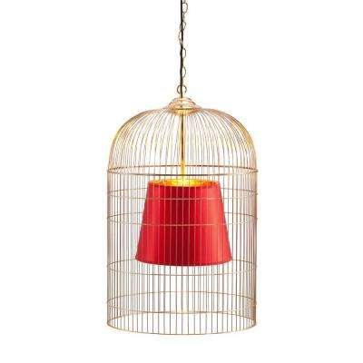 Sprite 12-Light Gold and Red Ceiling Large Lamp