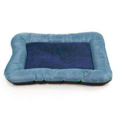 Large Blue Plush Cozy Pet Crate Dog Pet Bed