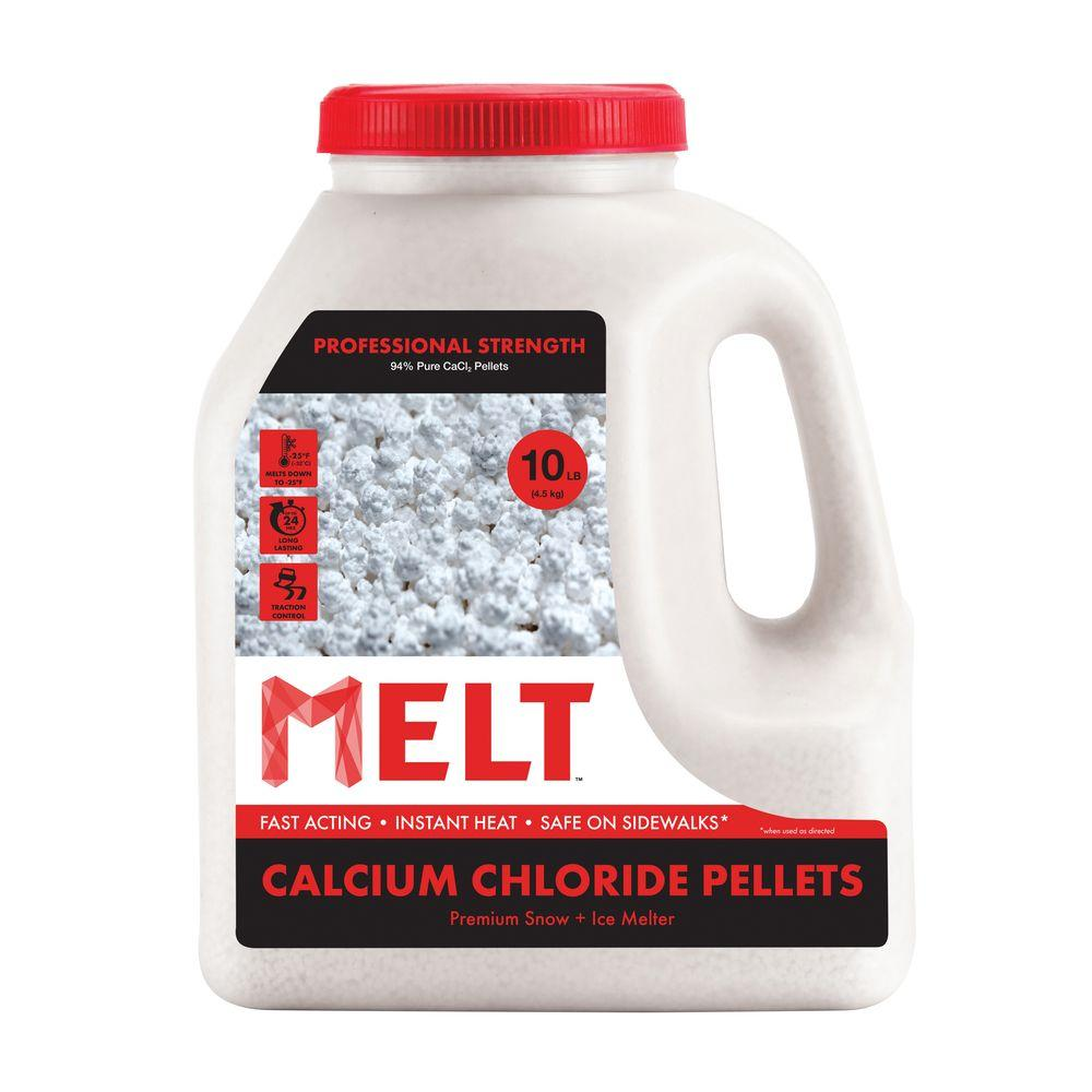 Melt 10 lb. Calcium Chloride Pellets Ice Melter Jug