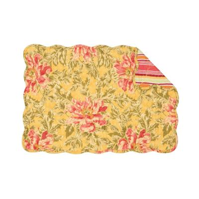 Faye 13 in. x 19 in. Yellows / Golds Cotton Placemats (Set of 6)