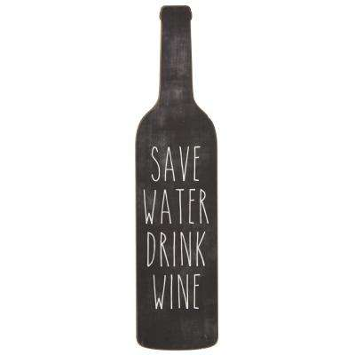 "20 in. H x 4.75 in. W ""Save Water Drink Wine"" Wall Art"