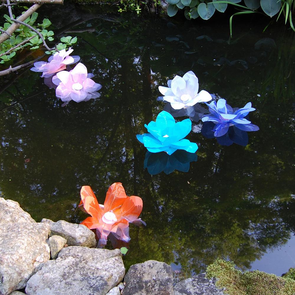Lumabase White Floating Lotus Lanterns (6-Count)