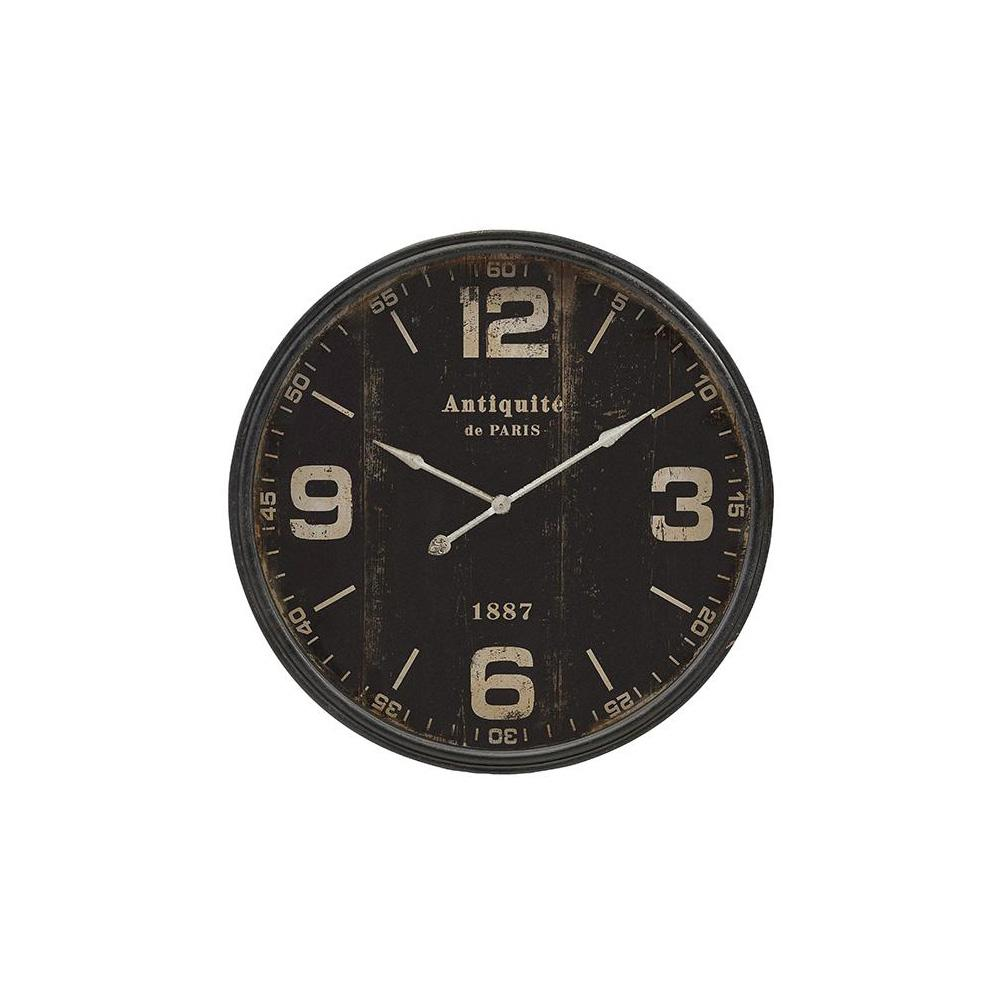 Roberson Black Distressed Wall Clock