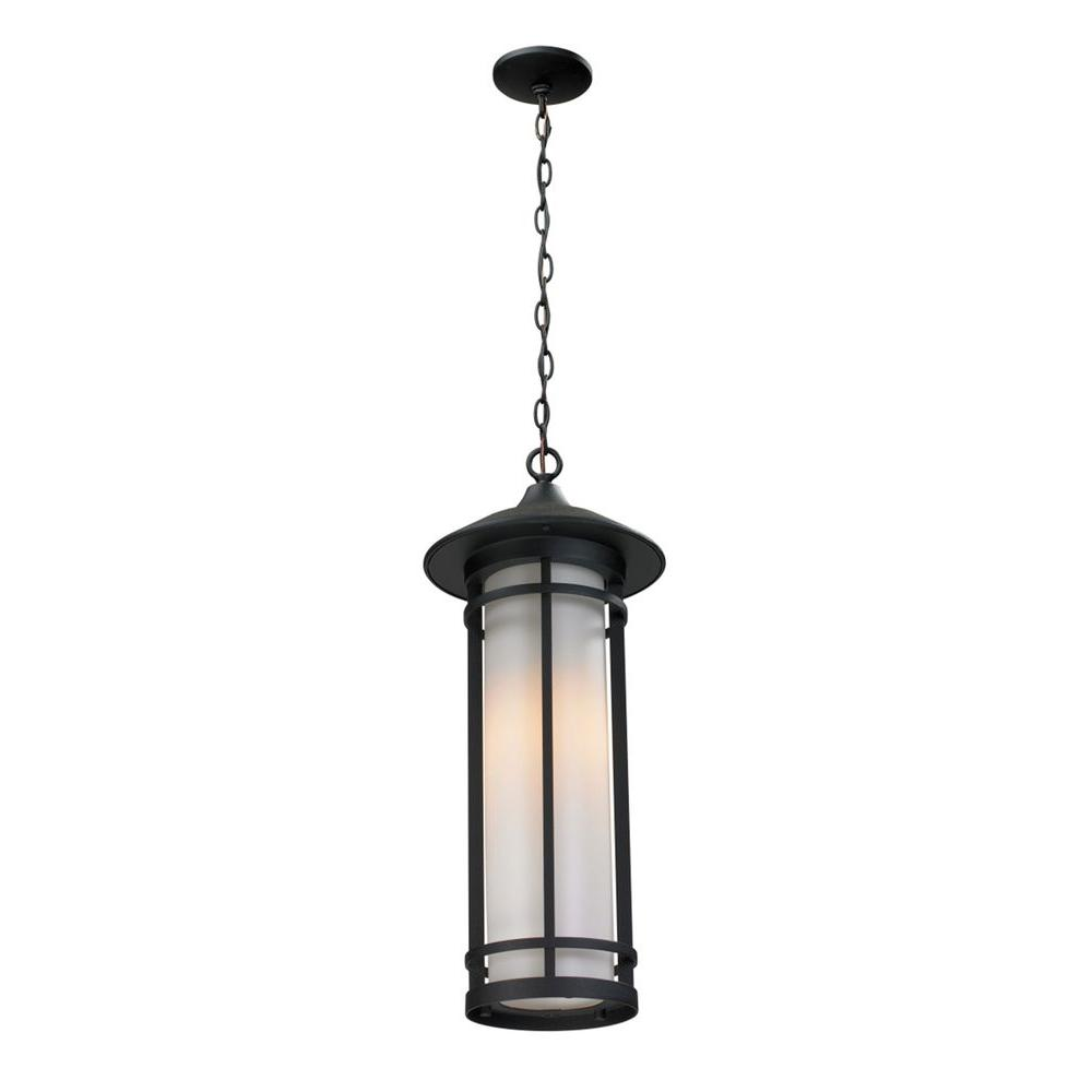 Filament Design Grove 1-Light Black Outdoor Pendant-CLI-JB