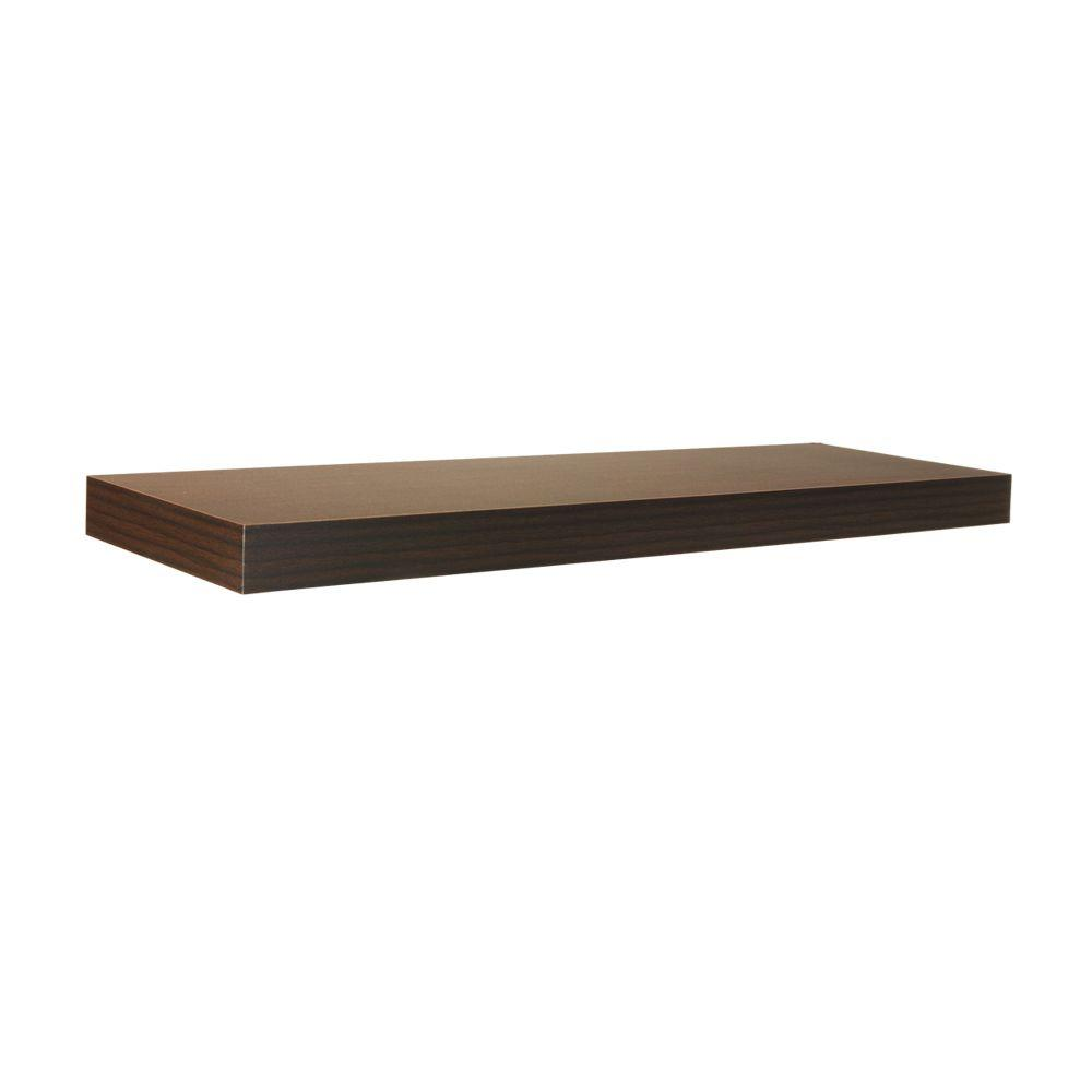 Home Decorators Collection 35.4 in. L x 10 in. W Floating Espresso Shelf
