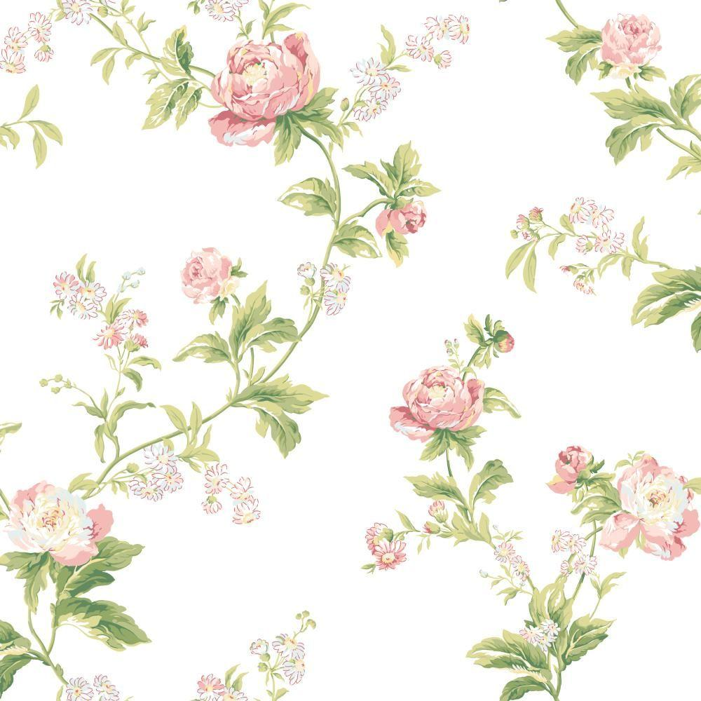 York Wallcoverings Waverly Classics Forever Yours Trail Wallpaper