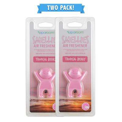 Smellies Tropical Berry Car Air Freshener Vent Clip 2 Pack