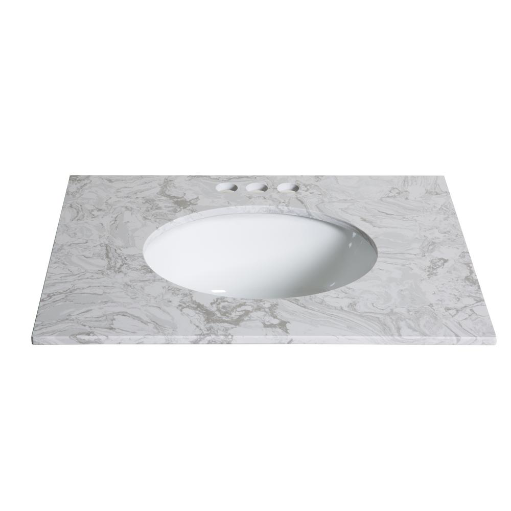 Sheffield Home 25 in. W x 19 in. D Engineered Stone Single Basin Vanity c4ad20009858