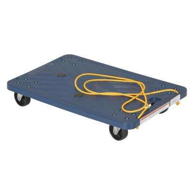 220 lb. Capacity 24 in. x 16 in. Plastic Dolly with Rope Pulley