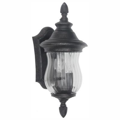 Wesleigh 2-Light Bronze Outdoor Wall Lantern Sconce