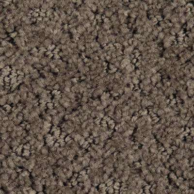 Carpet Sample - Hopeful Wishes - Color Wood Stone Pattern 8 in. x 8 in.