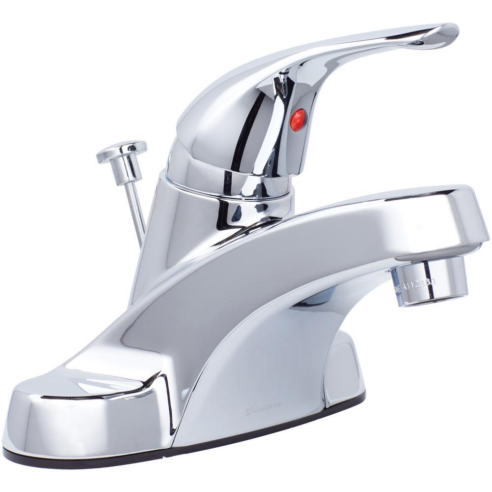 Enjoyable Glacier Bay Aragon 4 In Centerset Single Handle Low Arc Bathroom Faucet In Chrome Home Interior And Landscaping Ologienasavecom