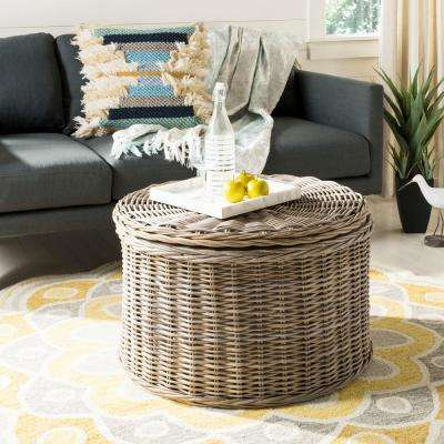 Jesse Wicker Storage Gray Coffee Table