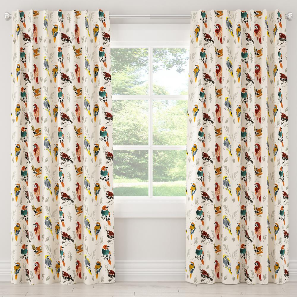 50 in. W x 108 in. L Unlined Curtains in Avery Multi