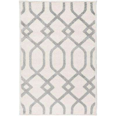 Hallekis Ivory 9 ft. x 13 ft. Indoor Area Rug