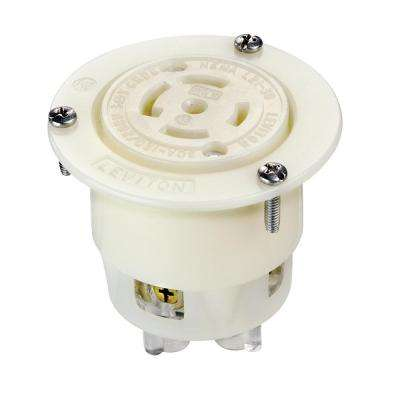 white 30 amp electrical outlets receptacles wiring devices rh homedepot com wiring cooker outlet plate wiring cooker socket diagram