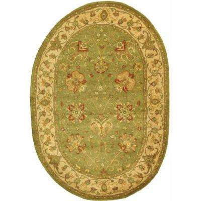 Antiquity Sage 8 ft. x 10 ft. Oval Area Rug
