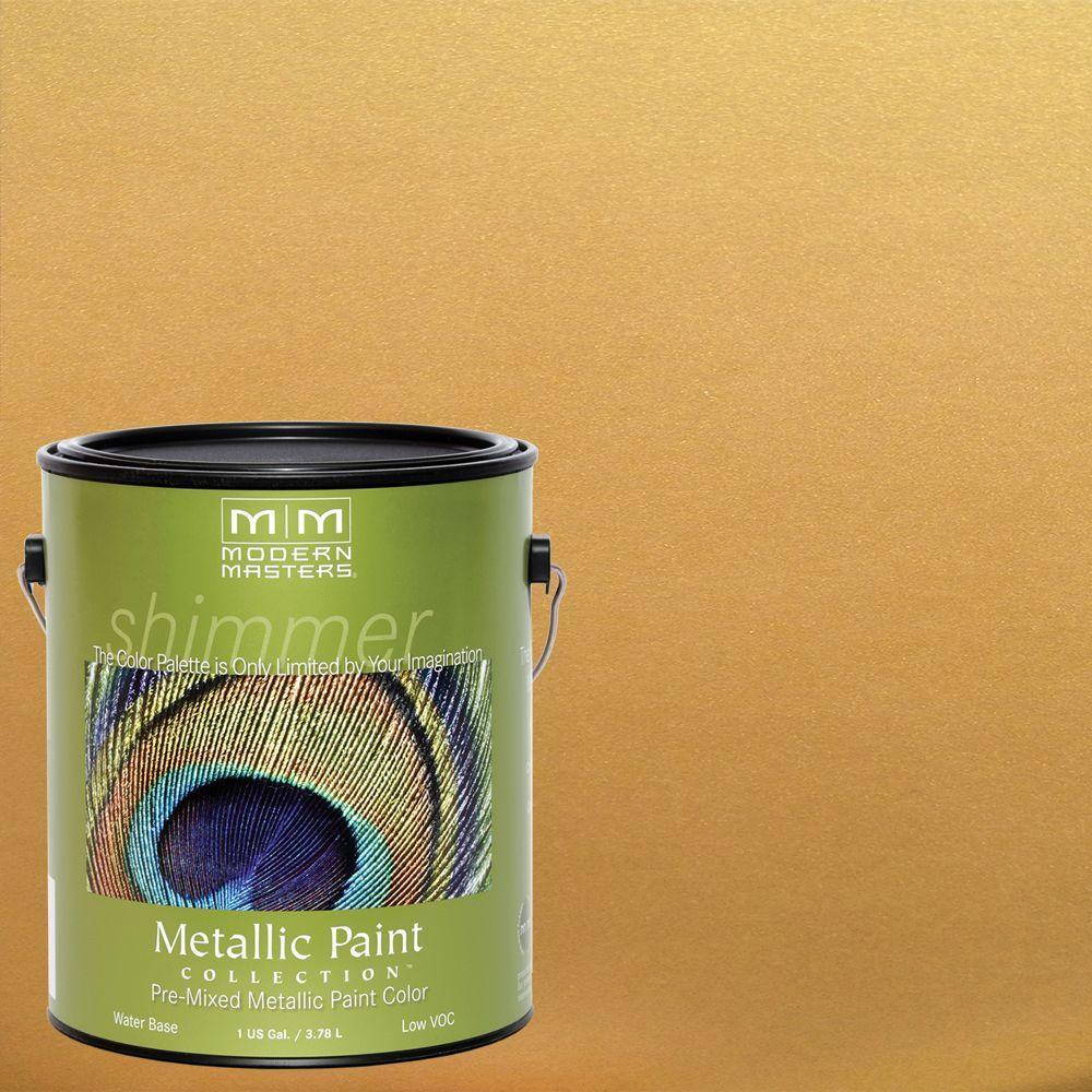 1 gal. Gold Rush Satin Metallic Interior/Exterior Paint