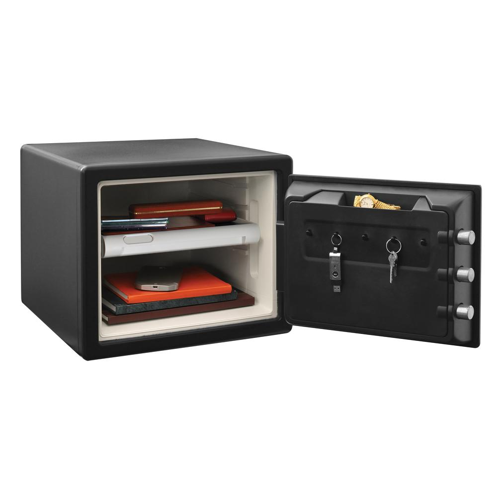 SentrySafe 0.81 cu. ft. Combination Fire Safe, Black