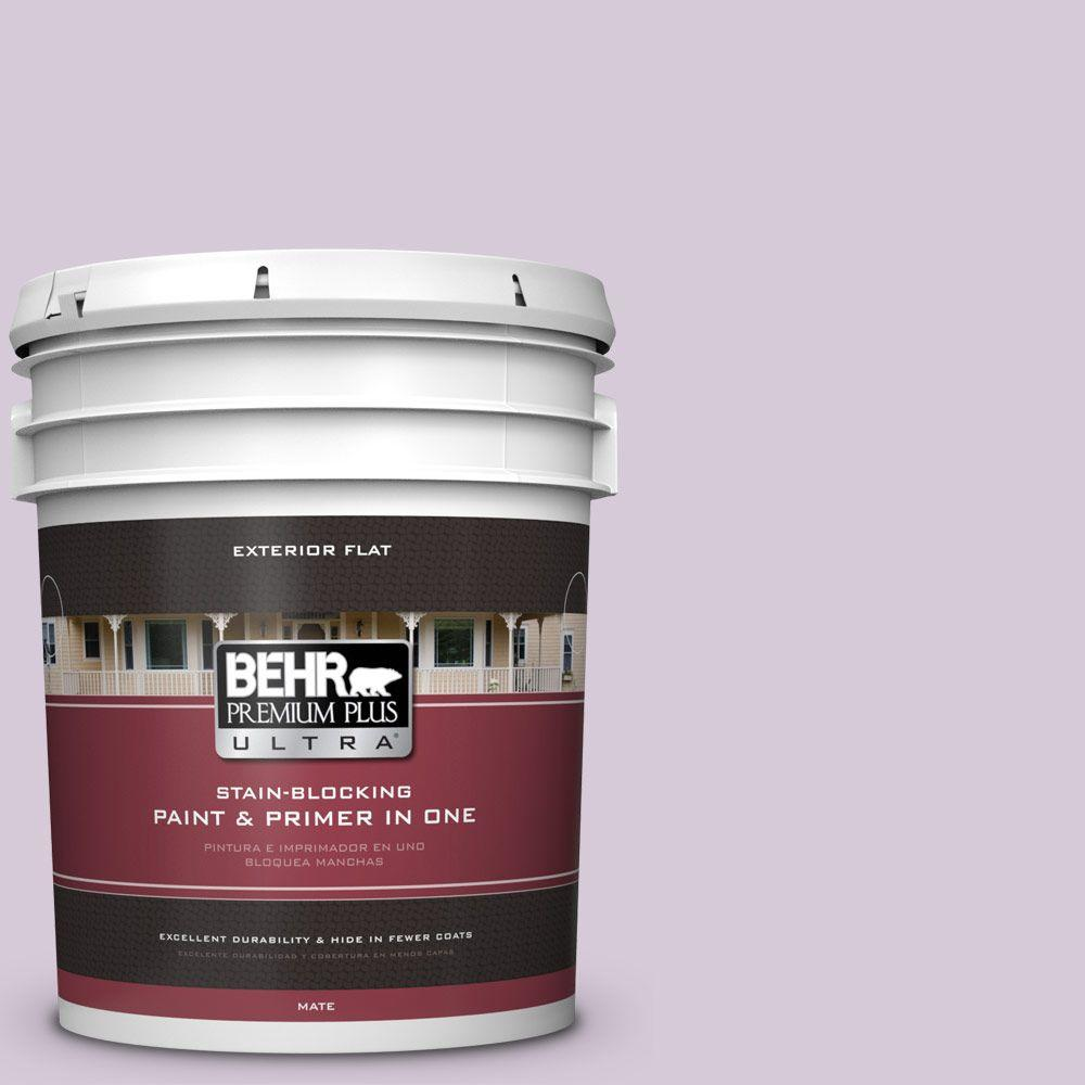 BEHR Premium Plus Ultra 5-gal. #670C-3 Purple Cream Flat Exterior Paint
