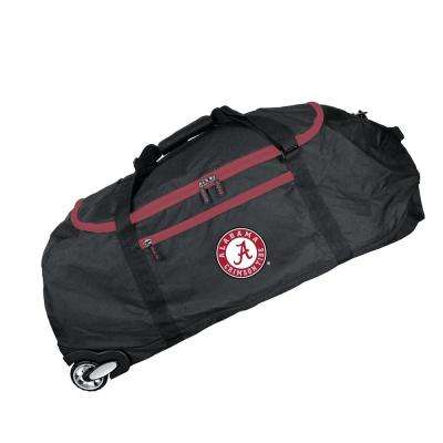 NCAA Alabama 36 in. Checked-In Rolling Duffel in Black