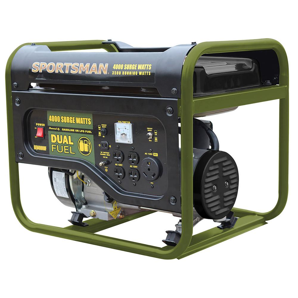 Sportsman 4,000/3,500-Watt Dual Fuel Powered Portable Generator, Runs on LPG or Regular Gasoline was $529.0 now $299.0 (43.0% off)