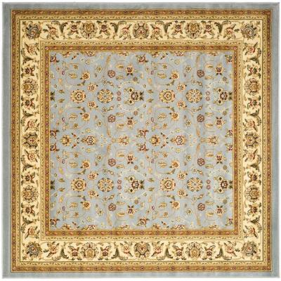Lyndhurst Light Blue/Ivory 9 ft. x 9 ft. Square Area Rug