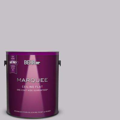 1 gal. #MQ5-32 Tinted to Such Melodrama One-Coat Hide Flat Interior Ceiling Paint and Primer in One