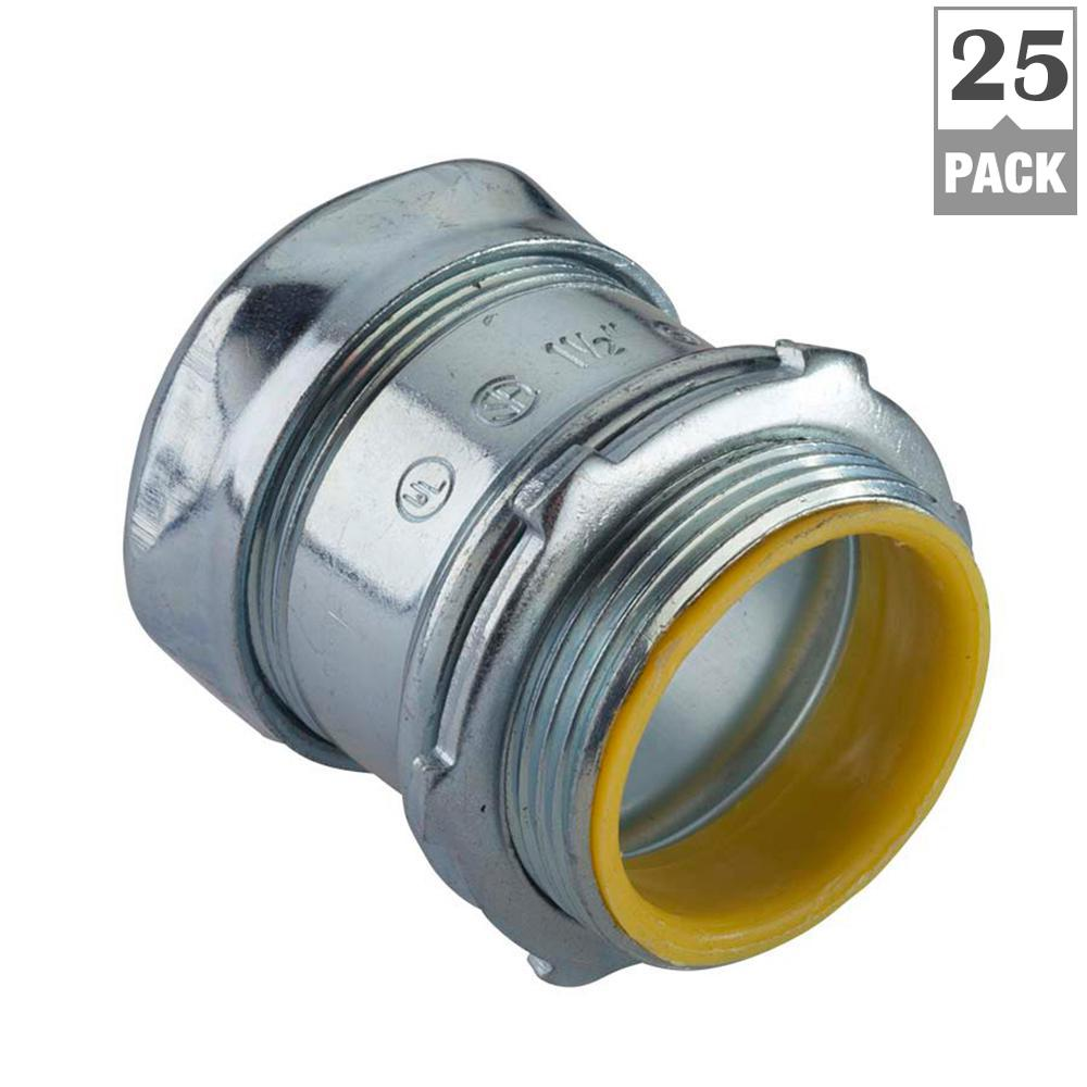 1/2 in. Electrical Metallic Tube (EMT) Compression Connectors with Insulated