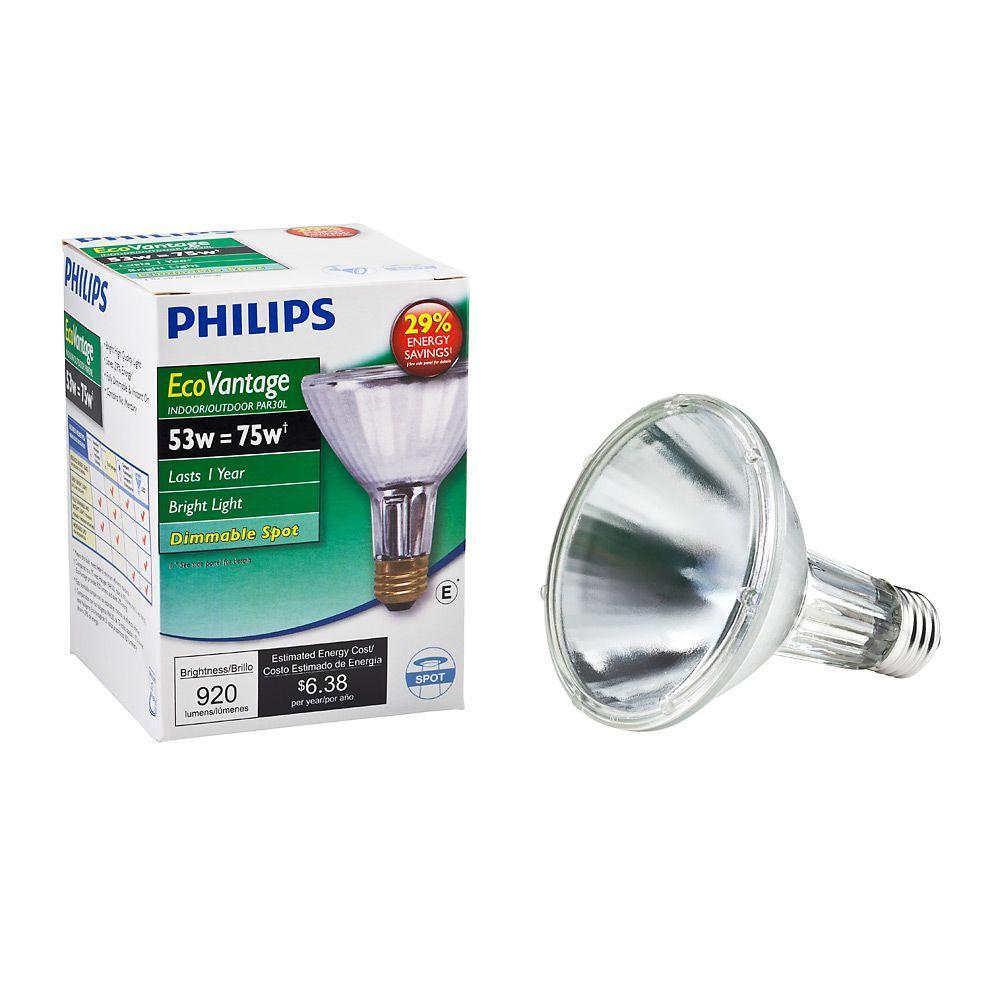 Philips 75 Watt Equivalent Halogen PAR30L Dimmable Spotlight Bulb