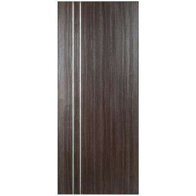 28 in. x 80 in. Grey Oak V2 Finished with Metal Stripes Solid Core Composite Interior Door Slab