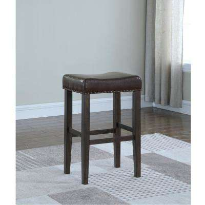 Jersey 29 in. Brown Cushioned Bar Stool