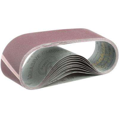3 in. x 21 in. 150-Grit Abrasive Belt (10-Pack)