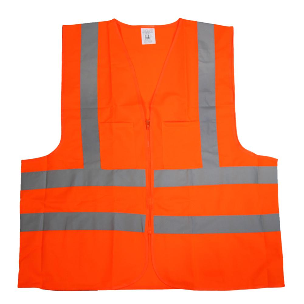 Builder's Large Orange Mesh High Visibility Reflective Class 2 Safety Vest