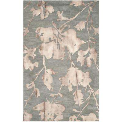 Dip Dye Gray/Beige 4 ft. x 6 ft. Area Rug