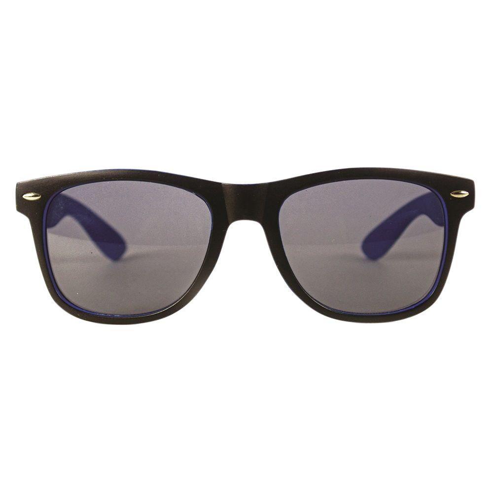 Black and Blue Retro Sunglasses