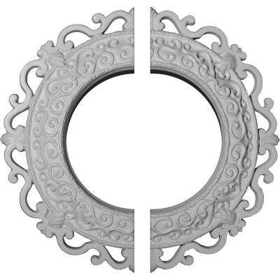 13-1/4 in. O.D. x 6-5/8 in. I.D. x 1-1/8 in. P Orrington Ceiling Medallion (2-Piece)